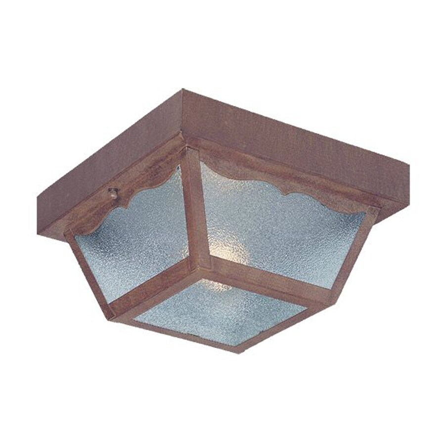 Acclaim Lighting Builder's Choice 7.5-in W Burled Walnut Outdoor Flush-Mount Light