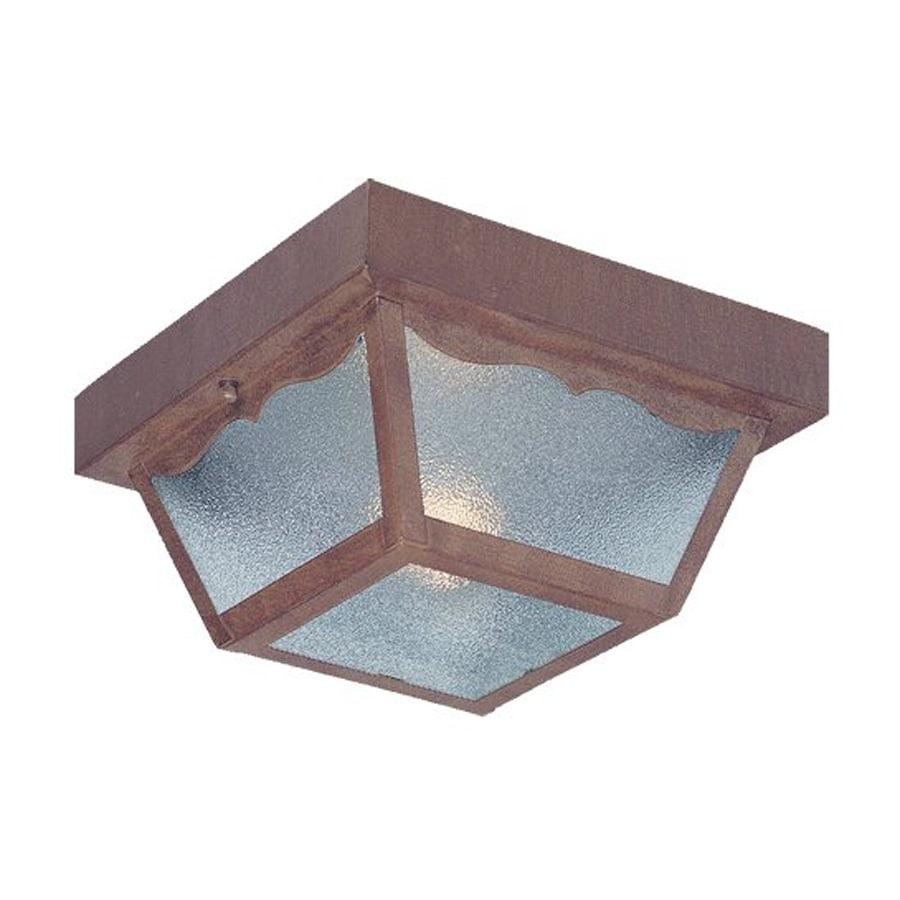 Acclaim Lighting Builder's Choice 8.375-in W Burled Walnut Outdoor Flush Mount Light