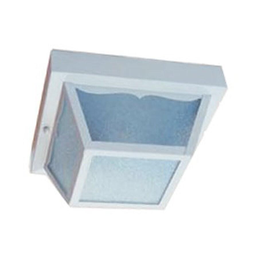 Acclaim Lighting Builder's Choice 7.5-in W Gloss White Outdoor Flush-Mount Light