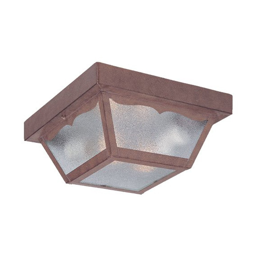 Acclaim Lighting Builder's Choice 9.25-in W Burled Walnut Outdoor Flush-Mount Light