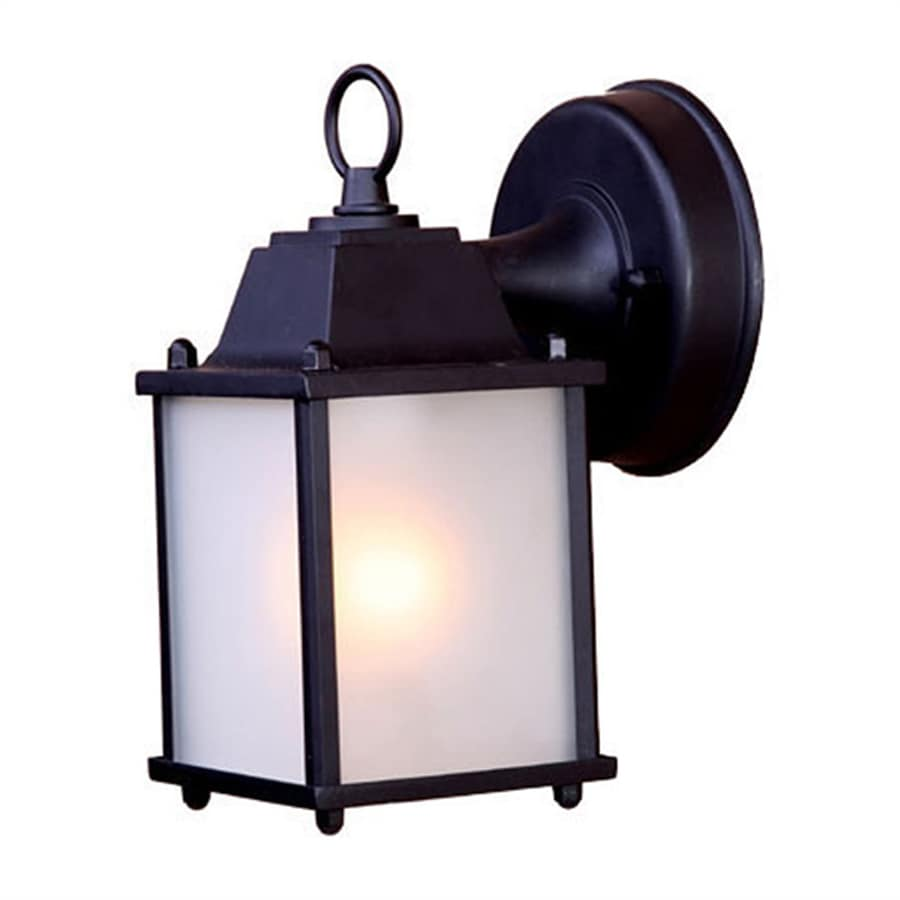 Acclaim Lighting Builders Choice 8-in H Matte Black Medium Base (E-26) Outdoor Wall Light