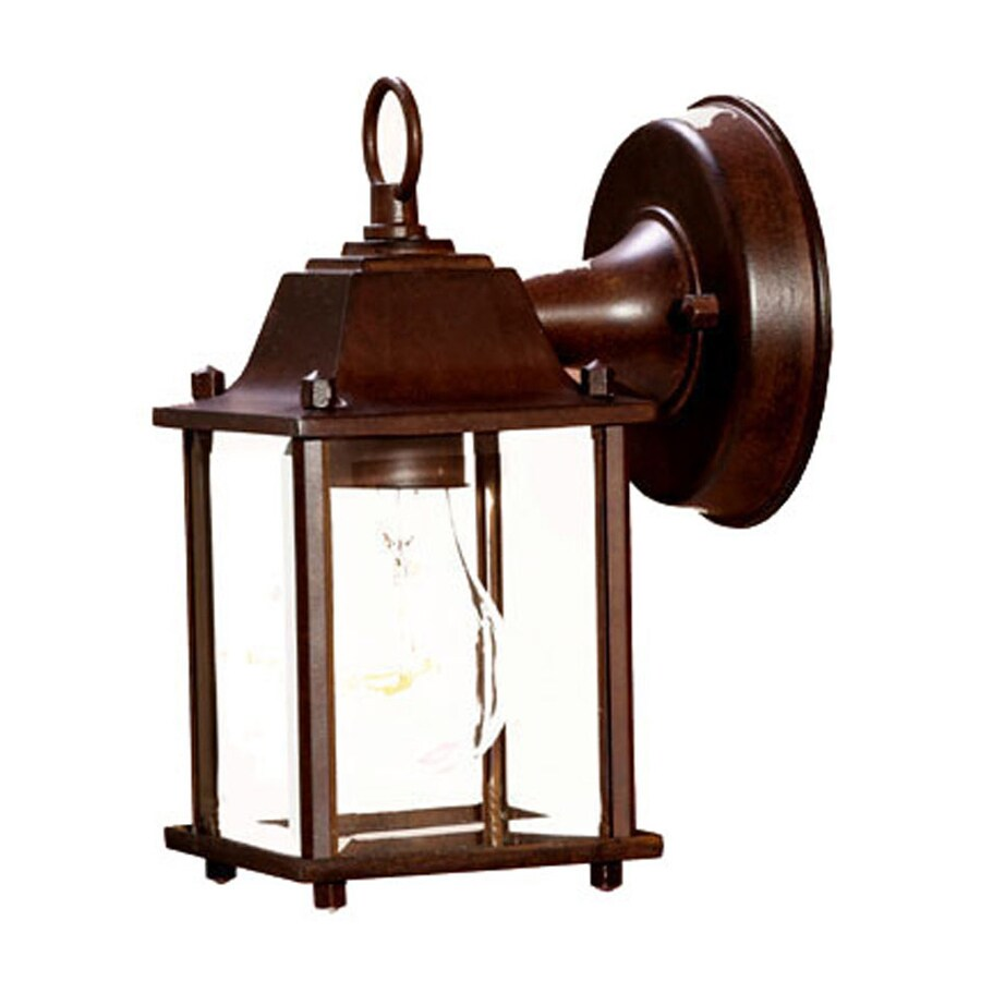 Acclaim Lighting Builders Choice 8.5-in H Burled Walnut Outdoor Wall Light