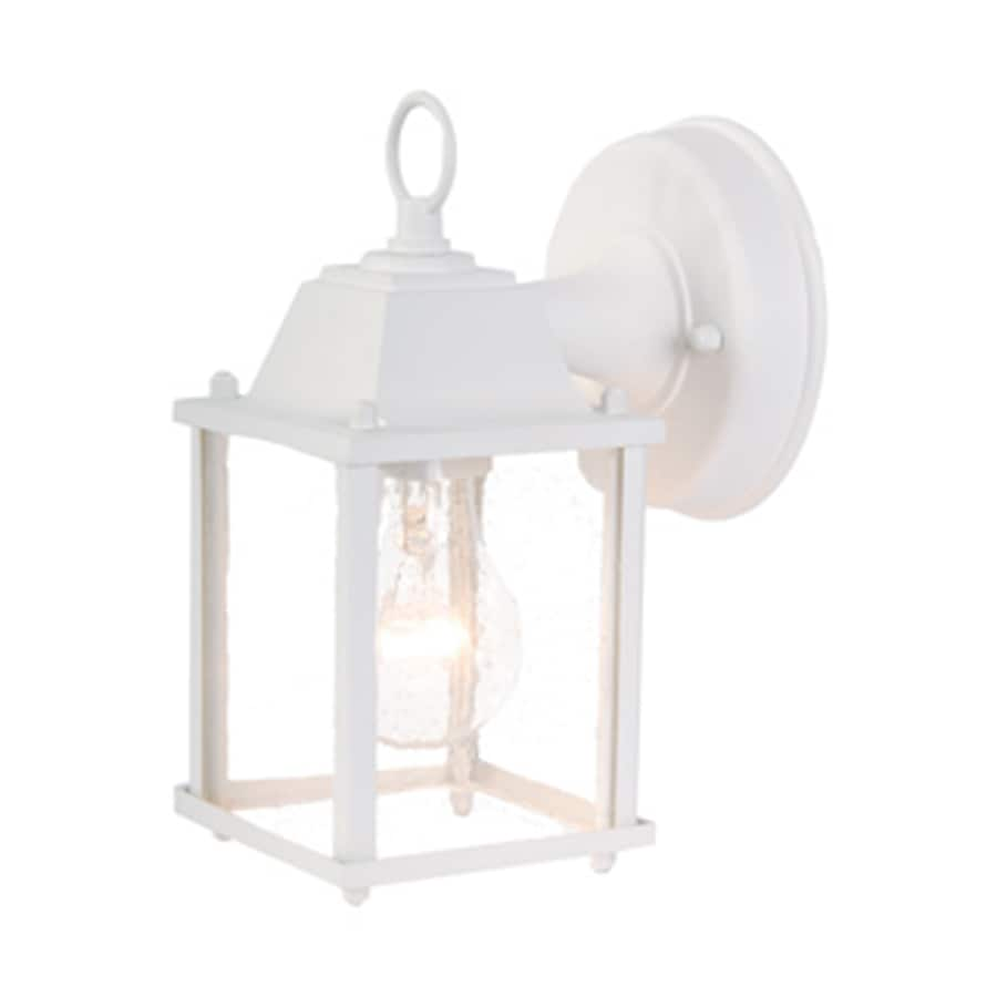 Acclaim Lighting Builders Choice 8-in H Textured White Outdoor Wall Light