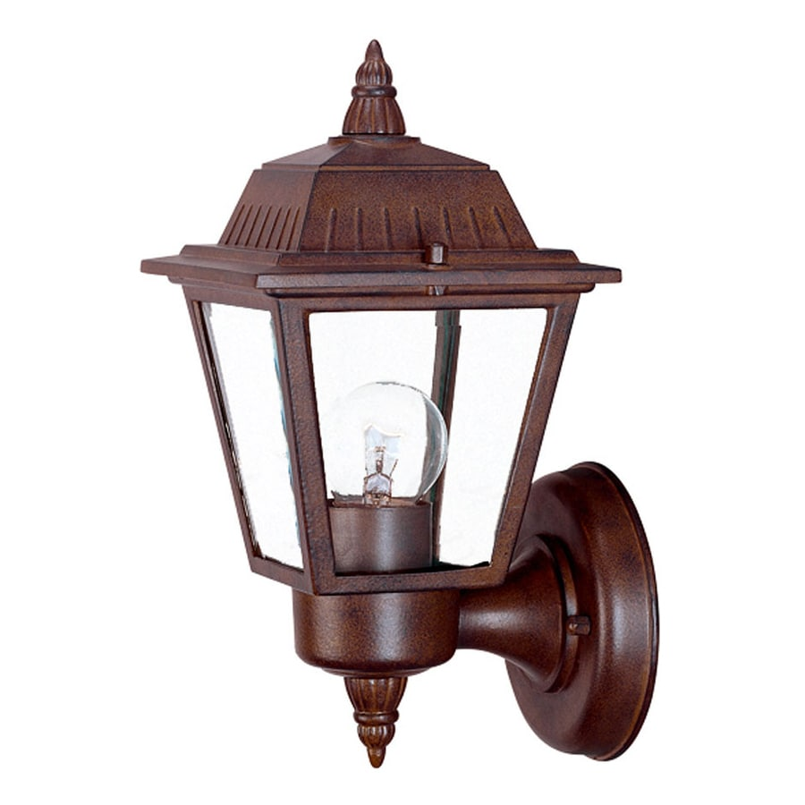Acclaim Lighting Builders Choice 10-in H Burled Walnut Outdoor Wall Light