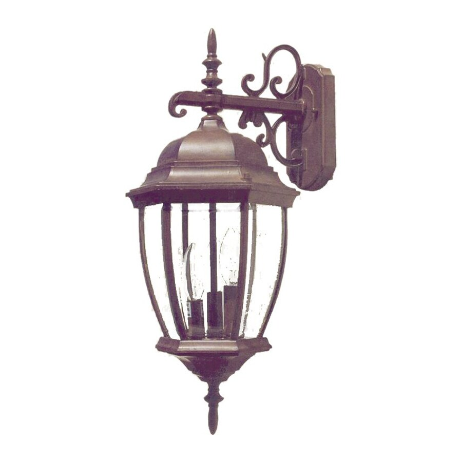 Acclaim Lighting Wexford 22.5-in H Burled Walnut Outdoor Wall Light