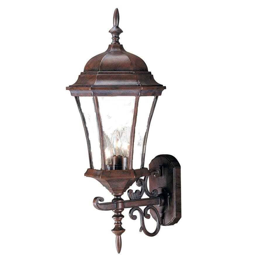 Acclaim Lighting Brynmawr 24-in H Burled Walnut Outdoor Wall Light