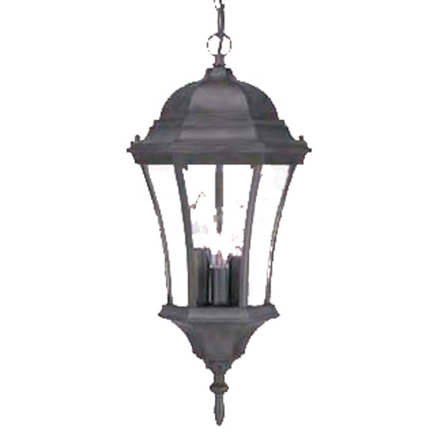Acclaim Lighting Brynmawr 19.5-in Matte Black Outdoor Pendant Light