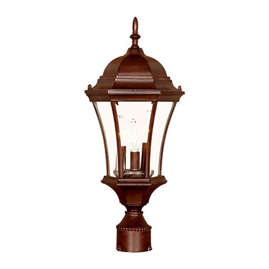Acclaim Lighting Brynmawr 21-in H Burled Walnut Post Light