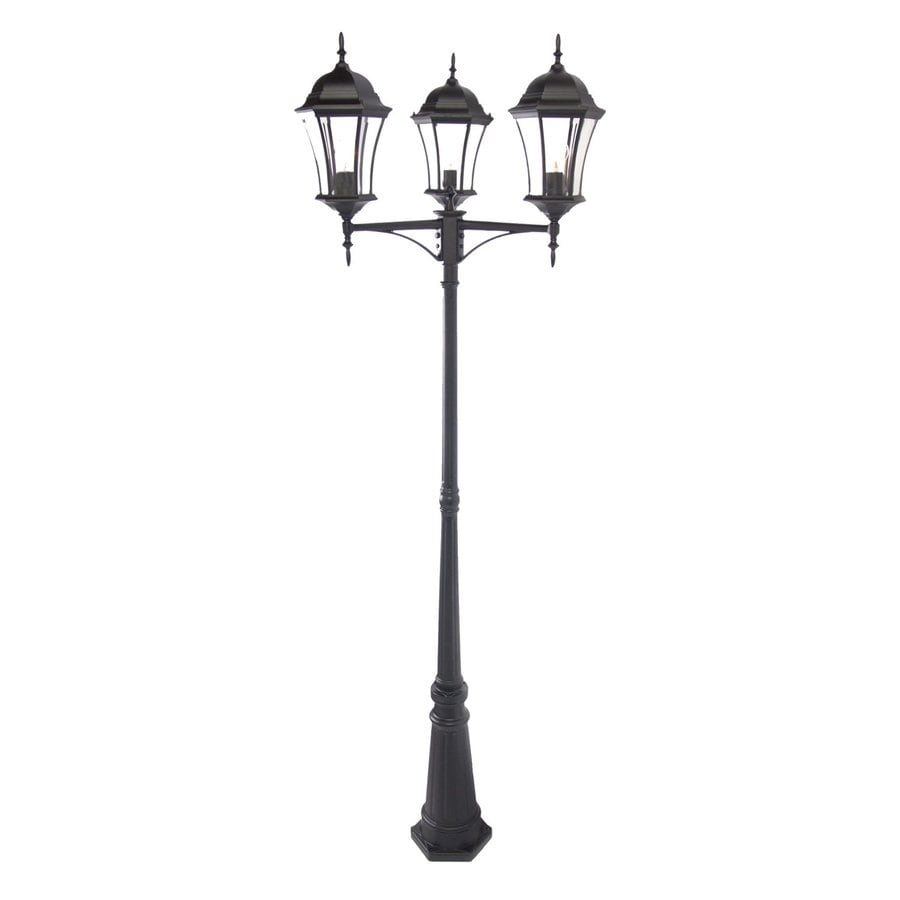 Acclaim Lighting Brynmawr 92-in H Matte Black Post Light