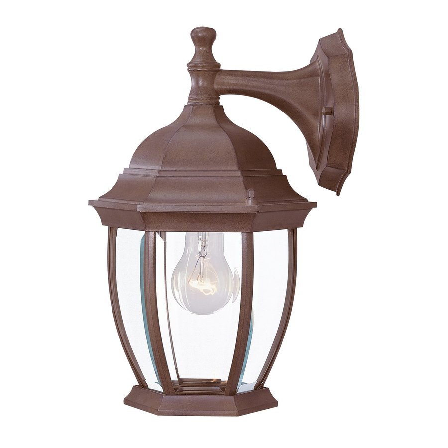 Acclaim Lighting Wexford 13-in H Burled Walnut Outdoor Wall Light