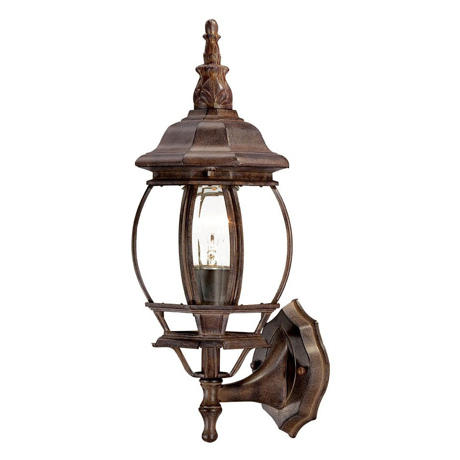 Acclaim Lighting Chateau 17.5-in H Burled Walnut Outdoor Wall Light
