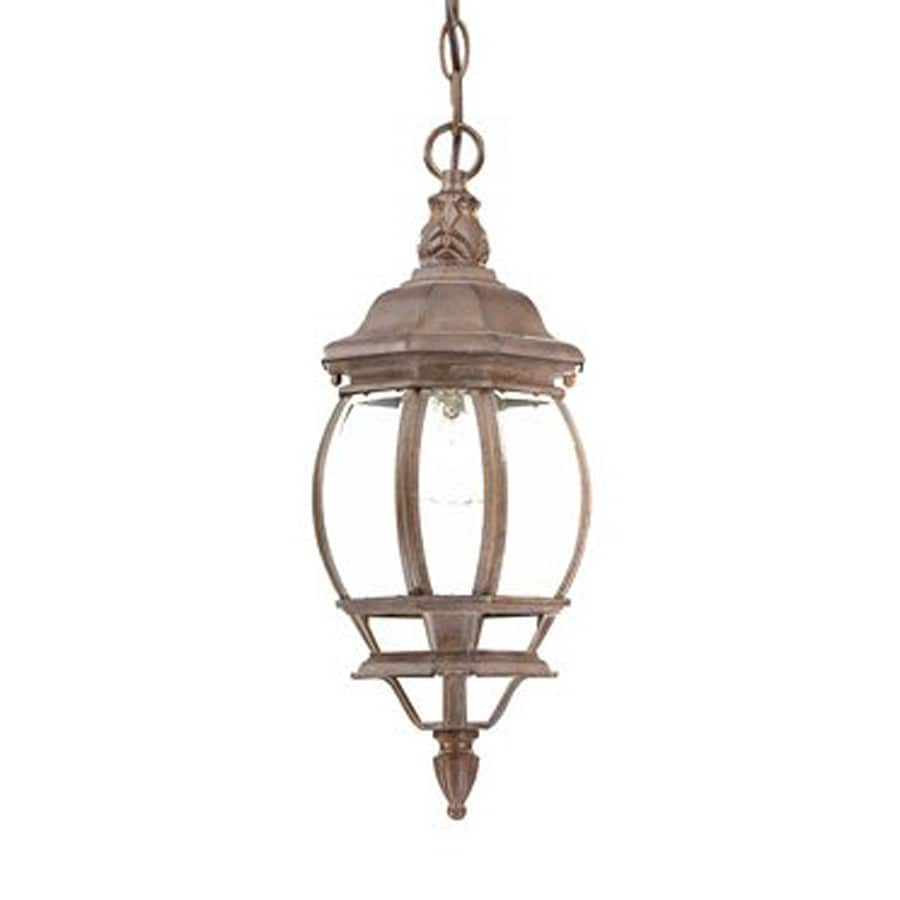 Acclaim Lighting Chateau 17.5-in Burled Walnut Outdoor Pendant Light