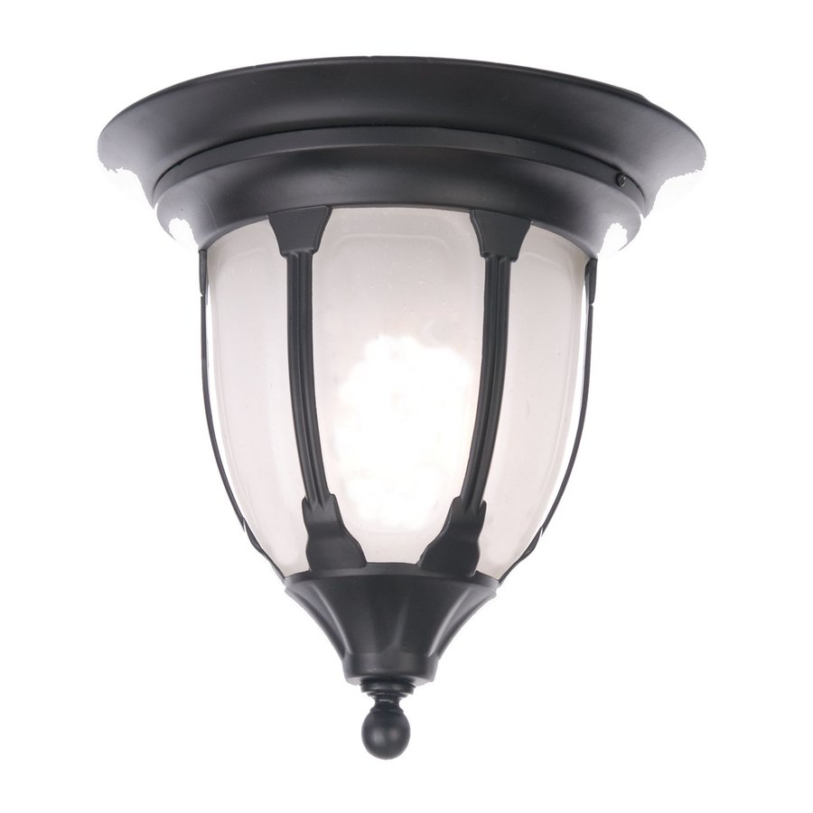 Acclaim Lighting Suffolk 11-in W Matte Black Outdoor Flush-Mount Light