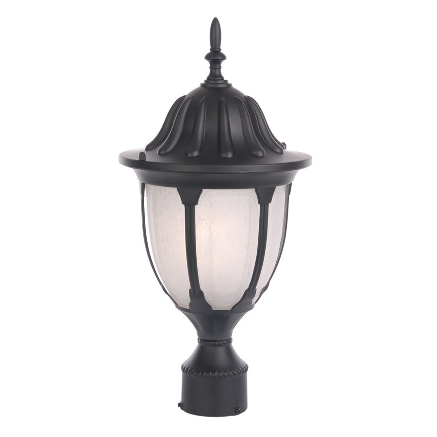 Acclaim Lighting Suffolk 19-in H Matte Black Post Light