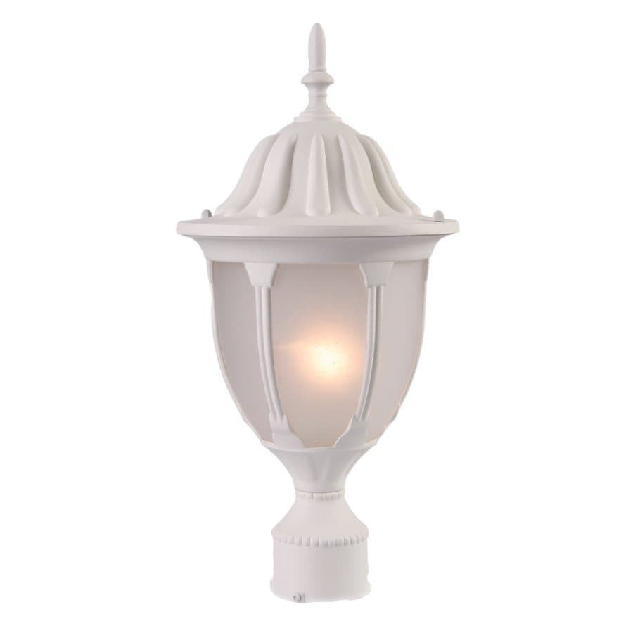 Acclaim Lighting Suffolk 19-in H Textured White Post Light