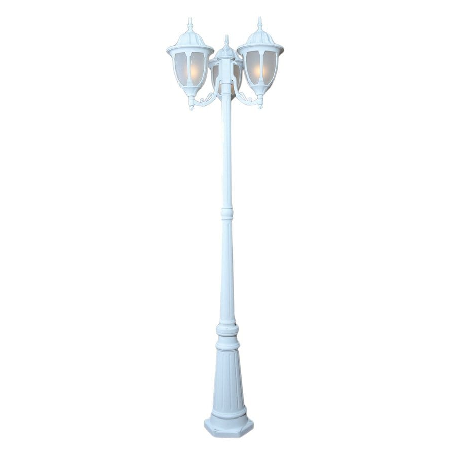 Acclaim Lighting Suffolk 82.5-in H Textured White Post Light