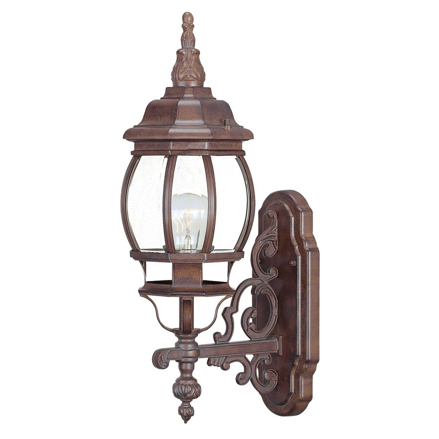 Acclaim Lighting Chateau 20-in H Burled Walnut Outdoor Wall Light