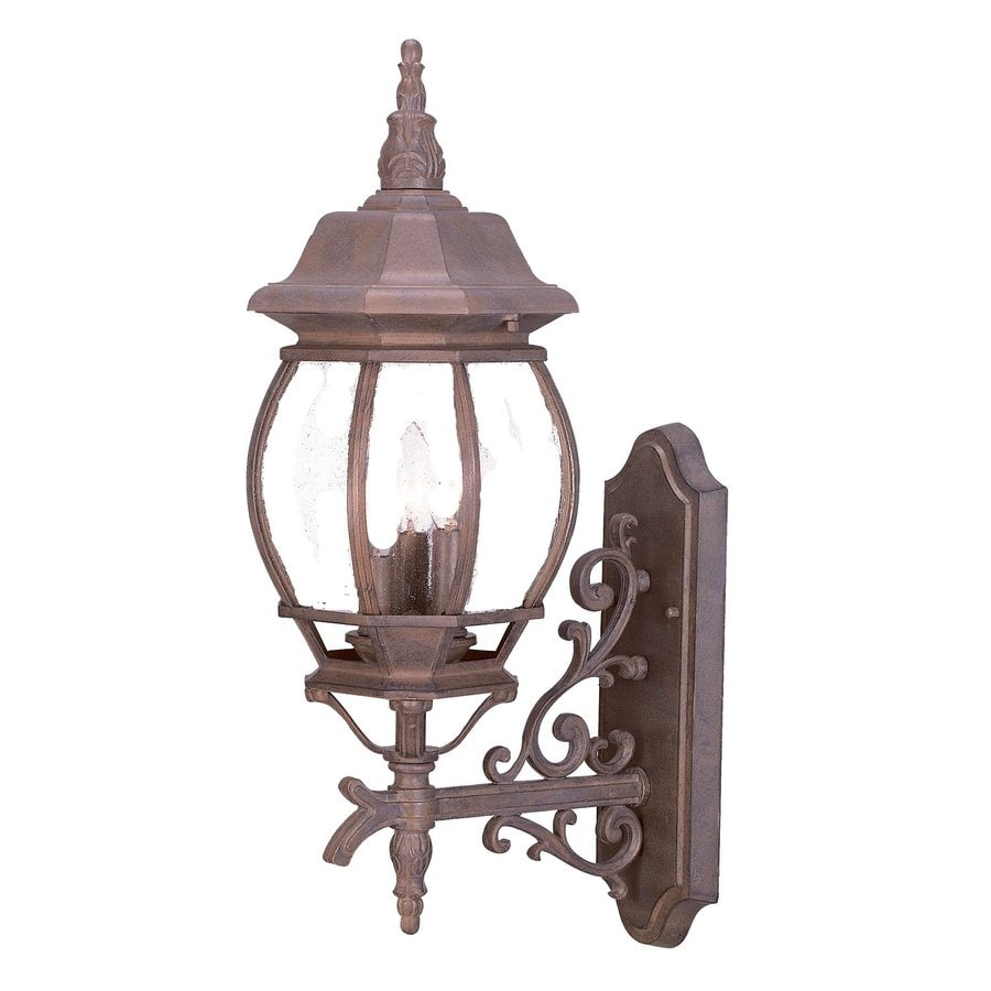 Acclaim Lighting Chateau 22.75-in H Burled Walnut Outdoor Wall Light