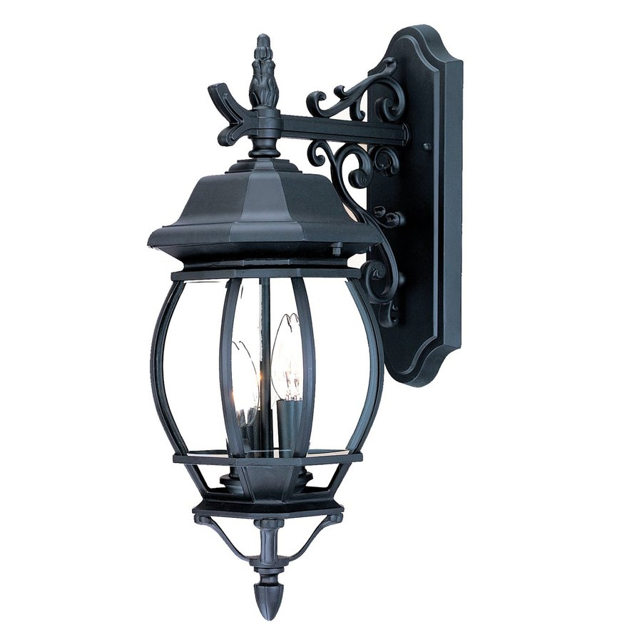 Acclaim Lighting Chateau 21-in H Matte Black Outdoor Wall Light