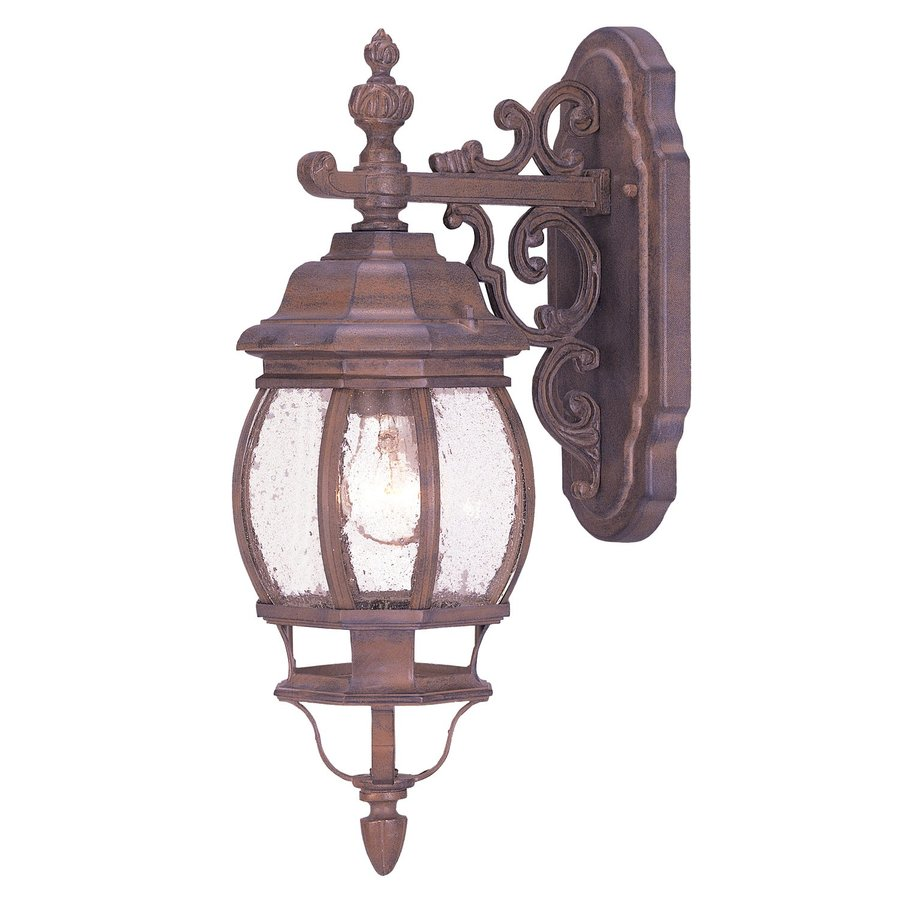 Acclaim Lighting Chateau 21-in H Burled Walnut Outdoor Wall Light