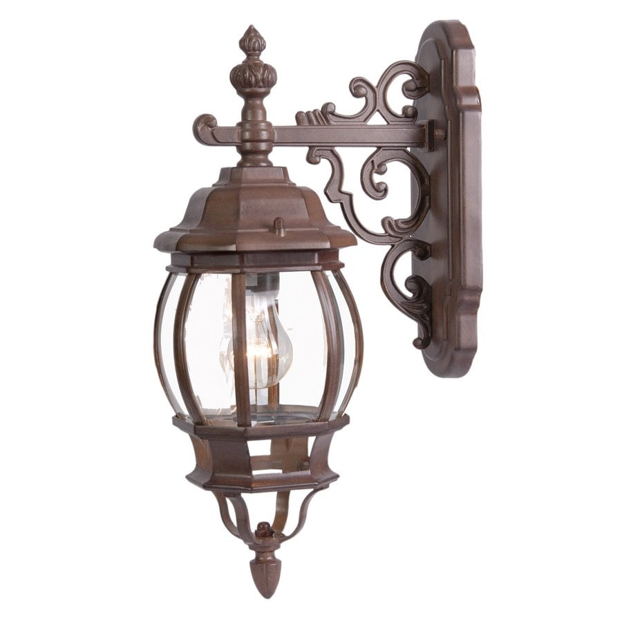 Acclaim Lighting Chateau 18-in H Burled Walnut Outdoor Wall Light