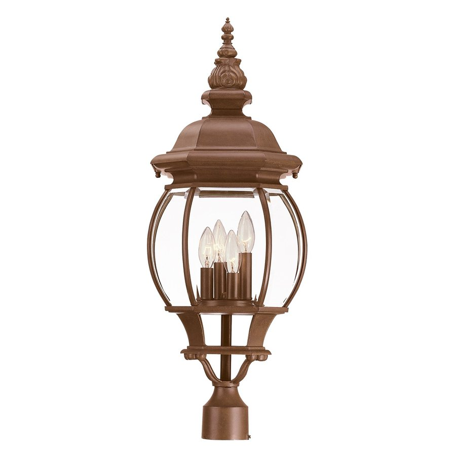 Acclaim Lighting Chateau 28.75-in H Burled Walnut Post Light