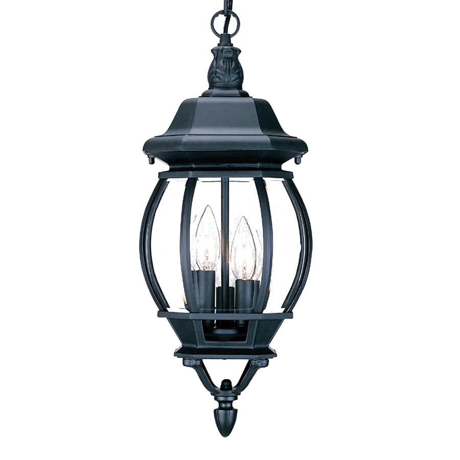 Acclaim Lighting Chateau 19.5-in Matte Black Outdoor Pendant Light