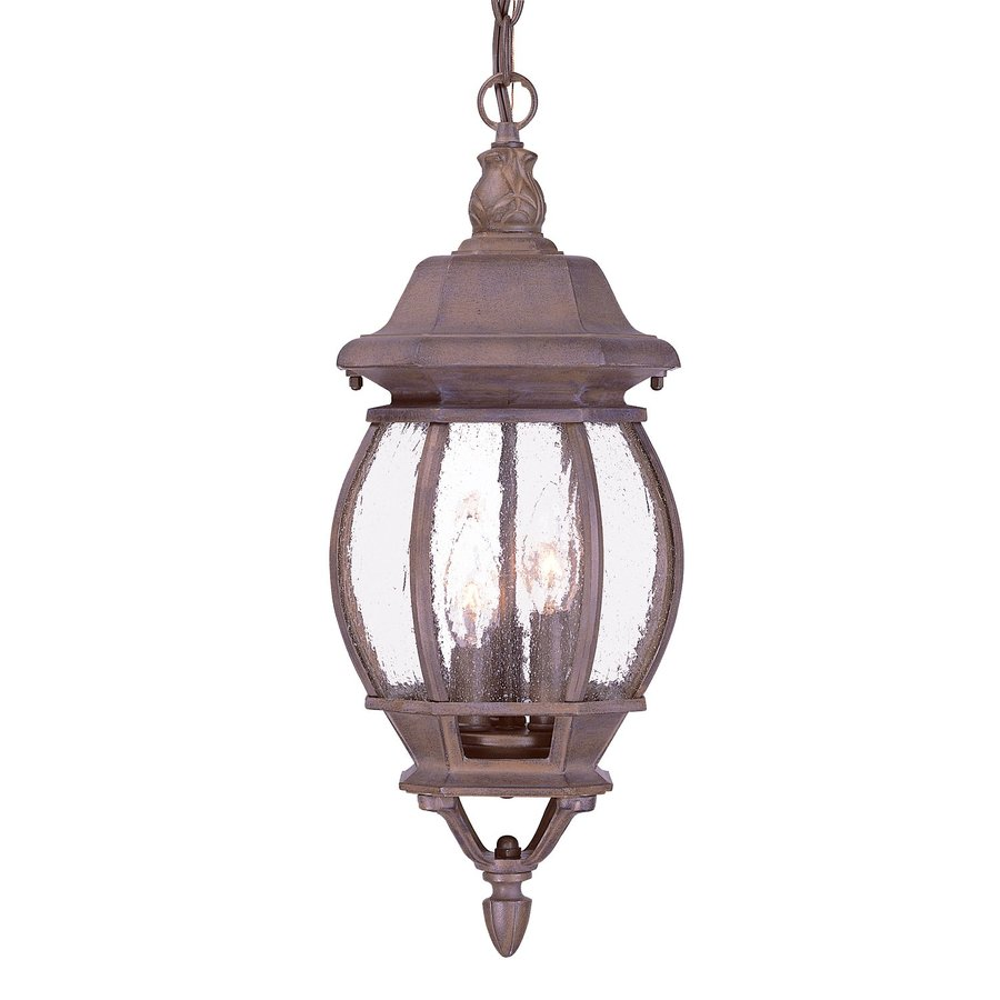 Acclaim Lighting Chateau 19.5-in Burled Walnut Outdoor Pendant Light