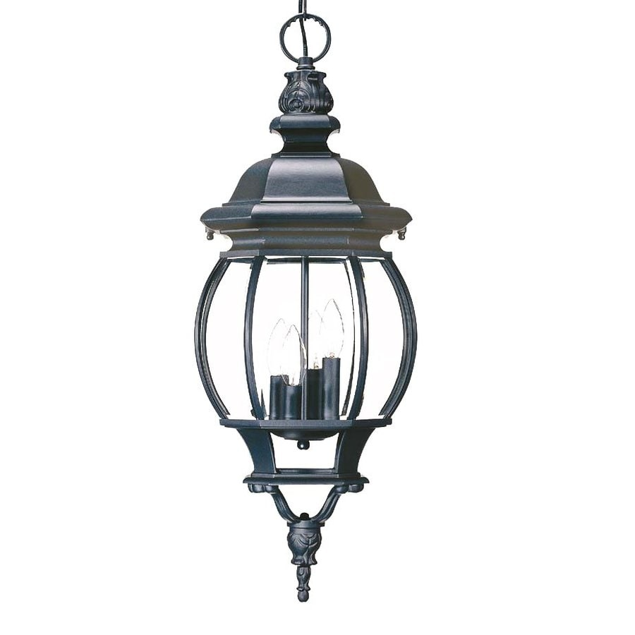 Acclaim Lighting Chateau 28.5-in Matte Black Outdoor Pendant Light