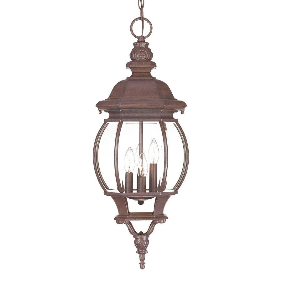Acclaim Lighting Chateau 28.5-in Burled Walnut Outdoor Pendant Light
