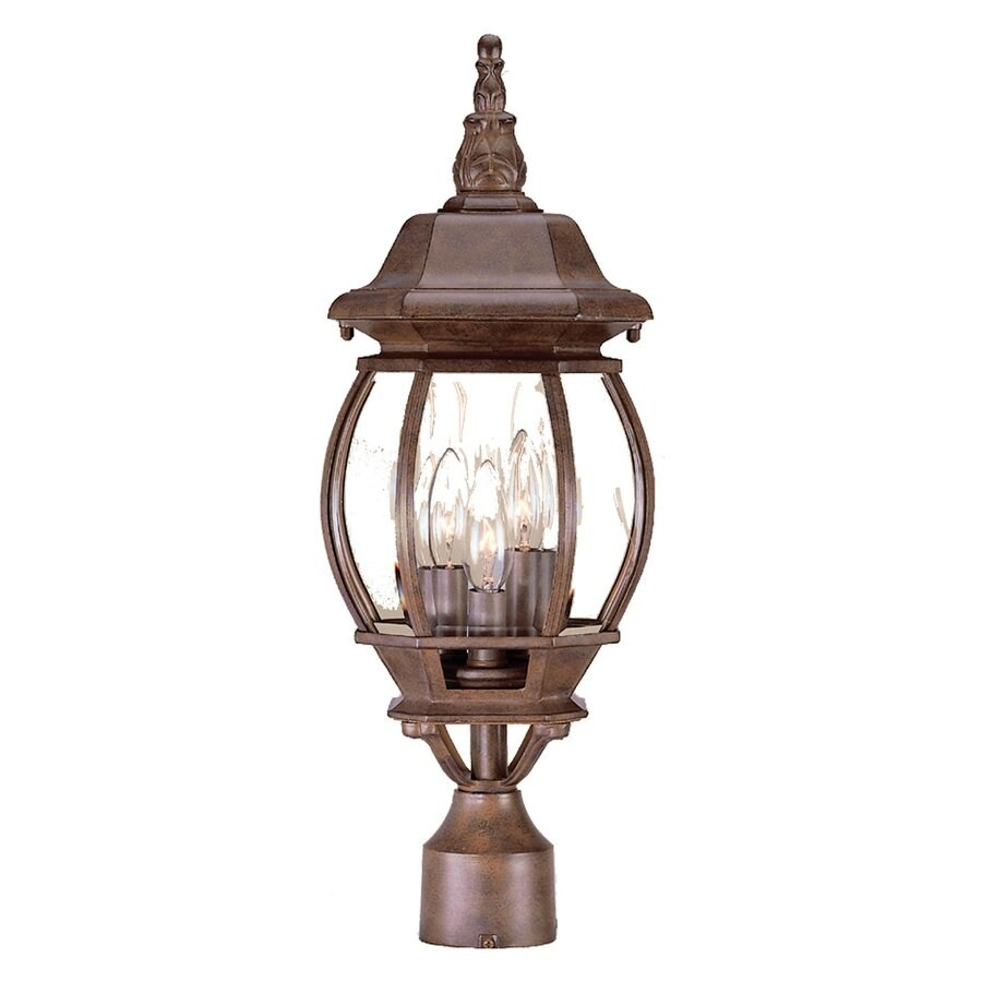 Acclaim Lighting Chateau 21-in H Burled Walnut Post Light