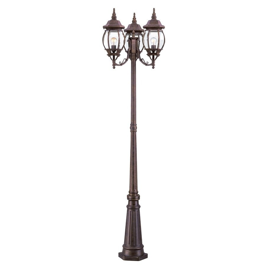 Acclaim Lighting Chateau 85-in H Burled Walnut Post Light