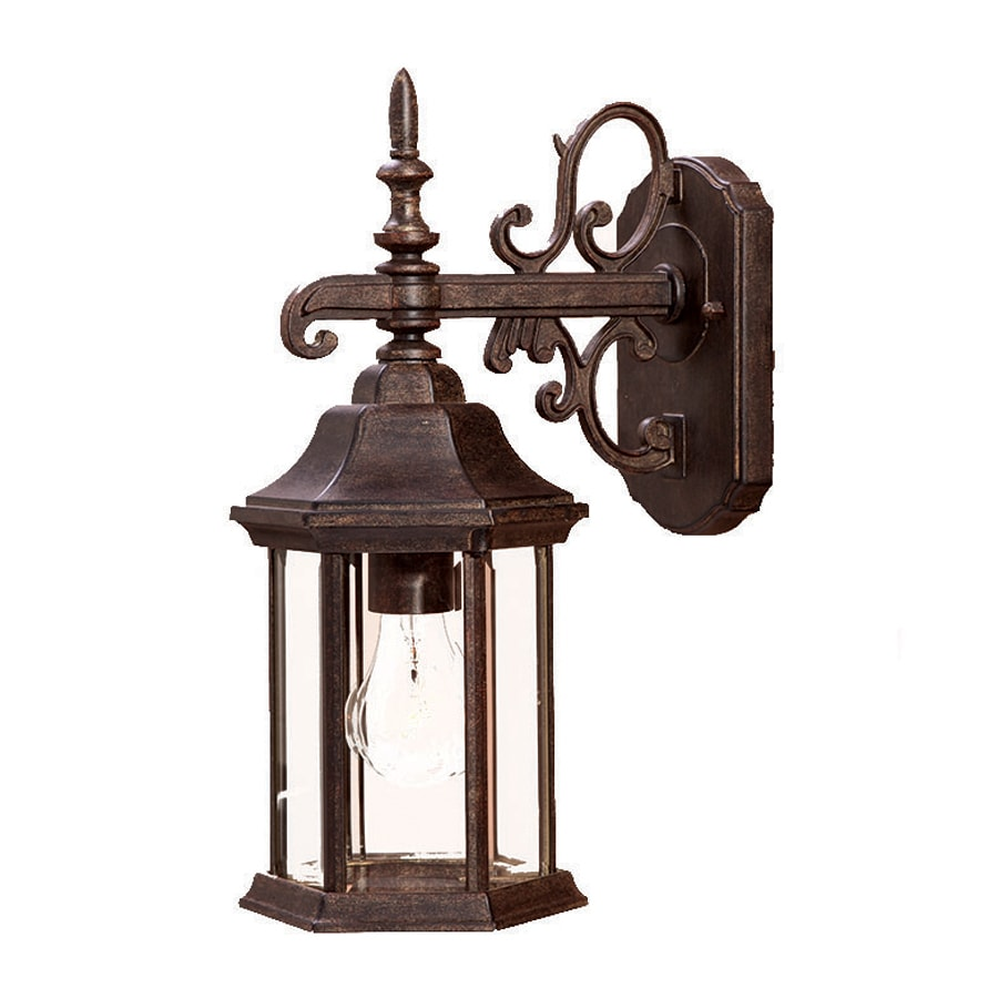 Shop Acclaim Lighting Madison 15-in H Black Coral Outdoor Wall Light at Lowes.com