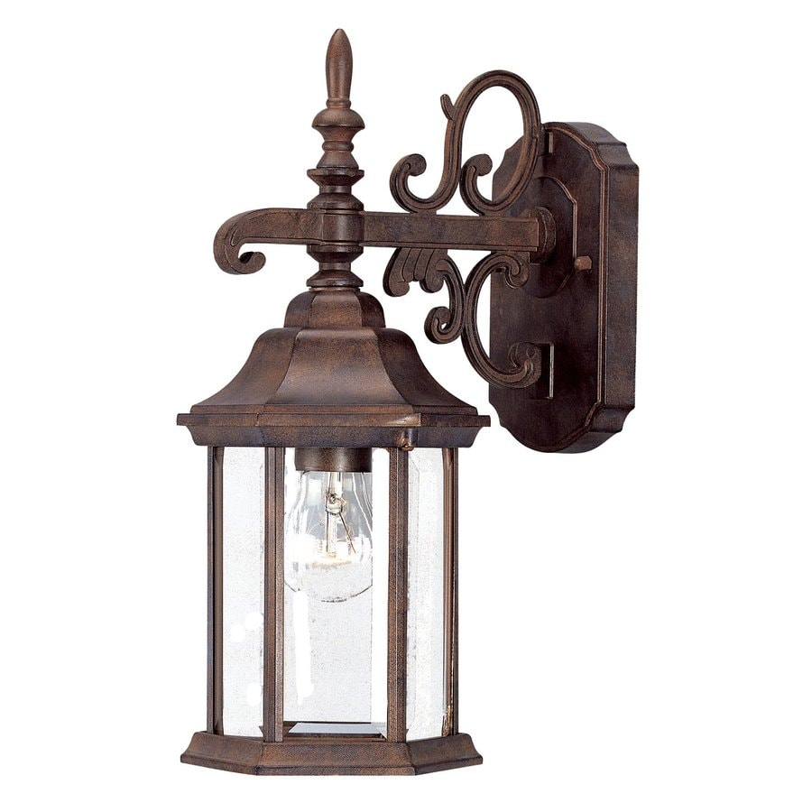 Acclaim Lighting Madison 15-in H Burled Walnut Outdoor Wall Light