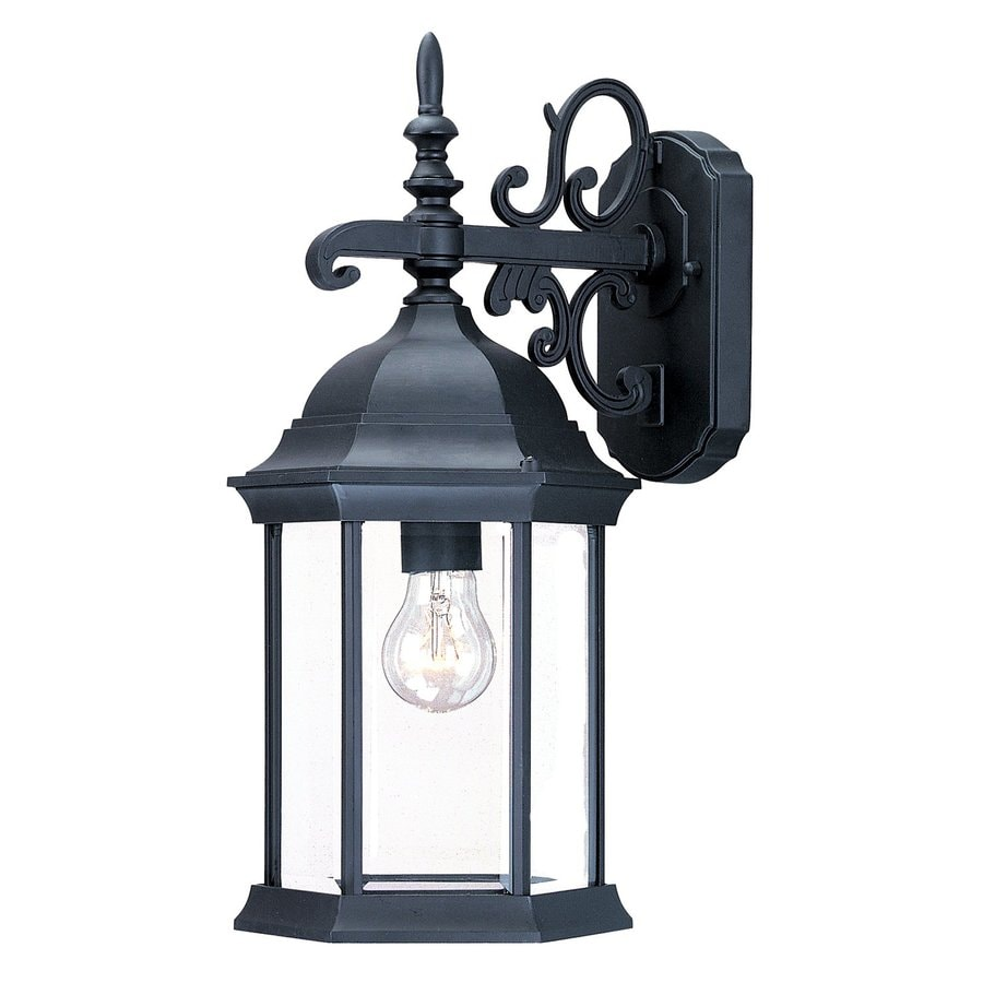 Shop Acclaim Lighting Madison 16.75-in H Matte Black Outdoor Wall Light at Lowes.com