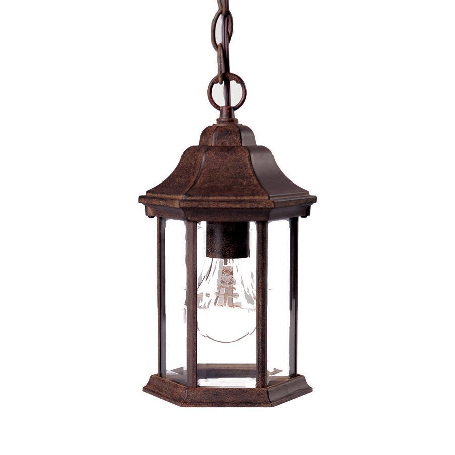 Acclaim Lighting Madison 12-in H Black Outdoor Pendant Light