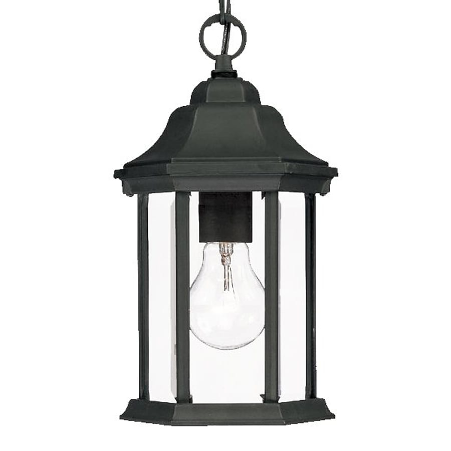 Acclaim Lighting Madison 12-in Matte Black Outdoor Pendant Light