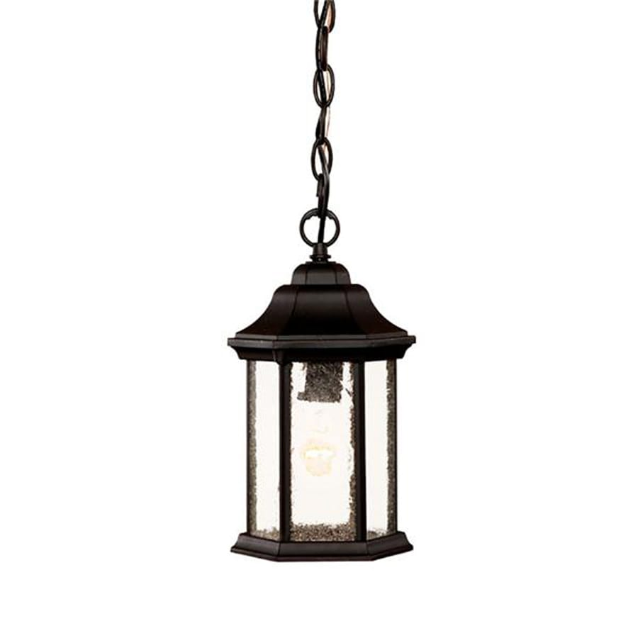 lighting madison 12 in matte black outdoor pendant light at. Black Bedroom Furniture Sets. Home Design Ideas