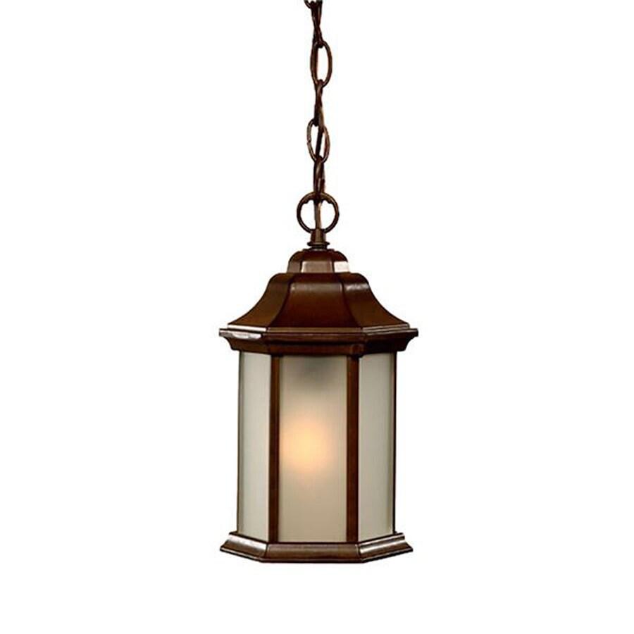 Acclaim Lighting Madison 12-in Burled Walnut Hardwired Outdoor Pendant Light
