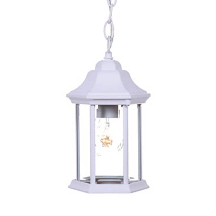 Acclaim Lighting Madison 12-in H White Outdoor Pendant Light