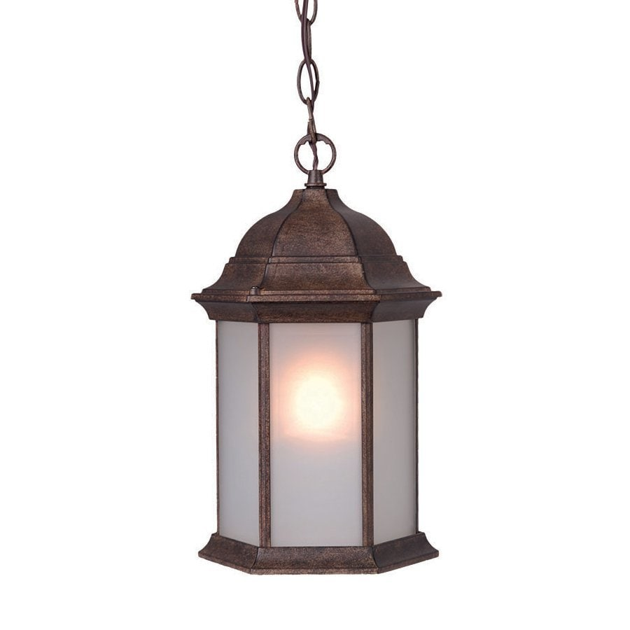 Acclaim Lighting Madison 14-in Black Coral Outdoor Pendant Light