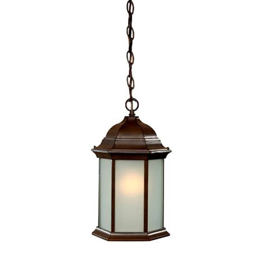 Acclaim Lighting Madison 14-in Burled Walnut Hardwired Outdoor Pendant Light