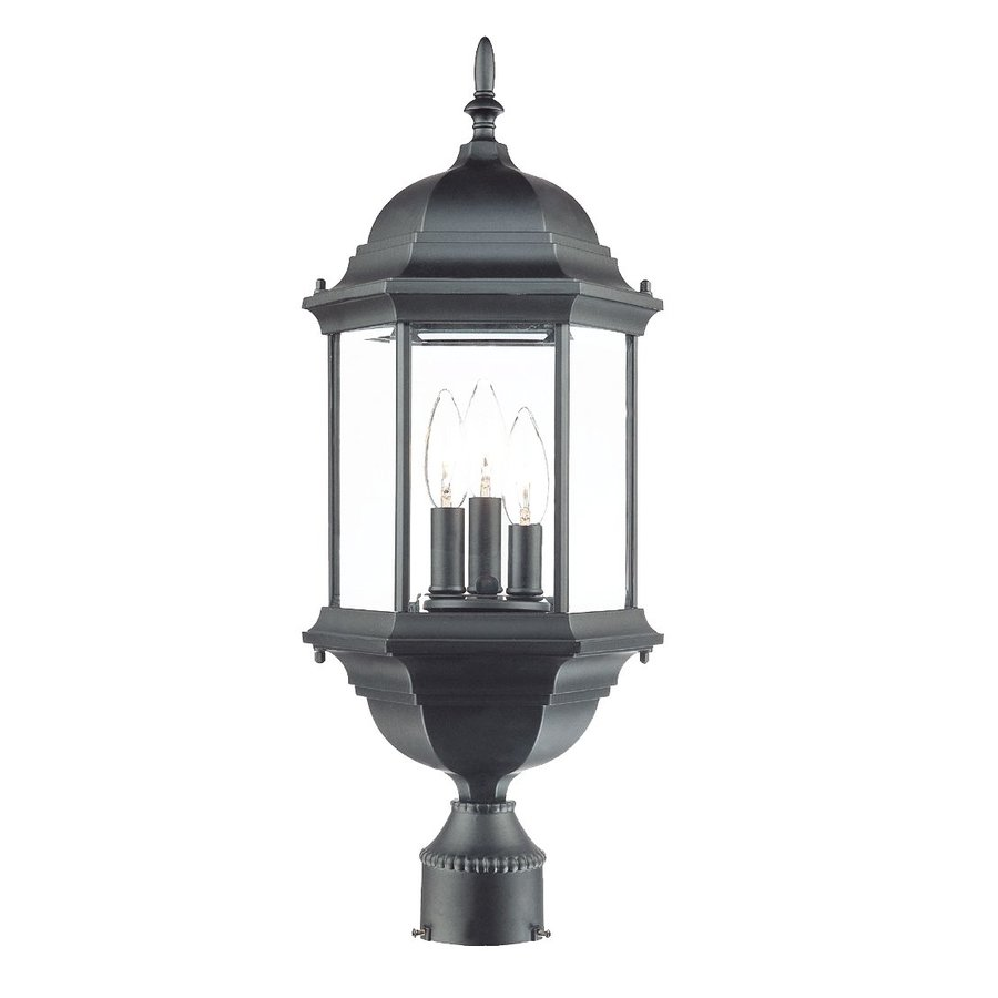 Acclaim Lighting Madison 25-in H Matte Black Post Light