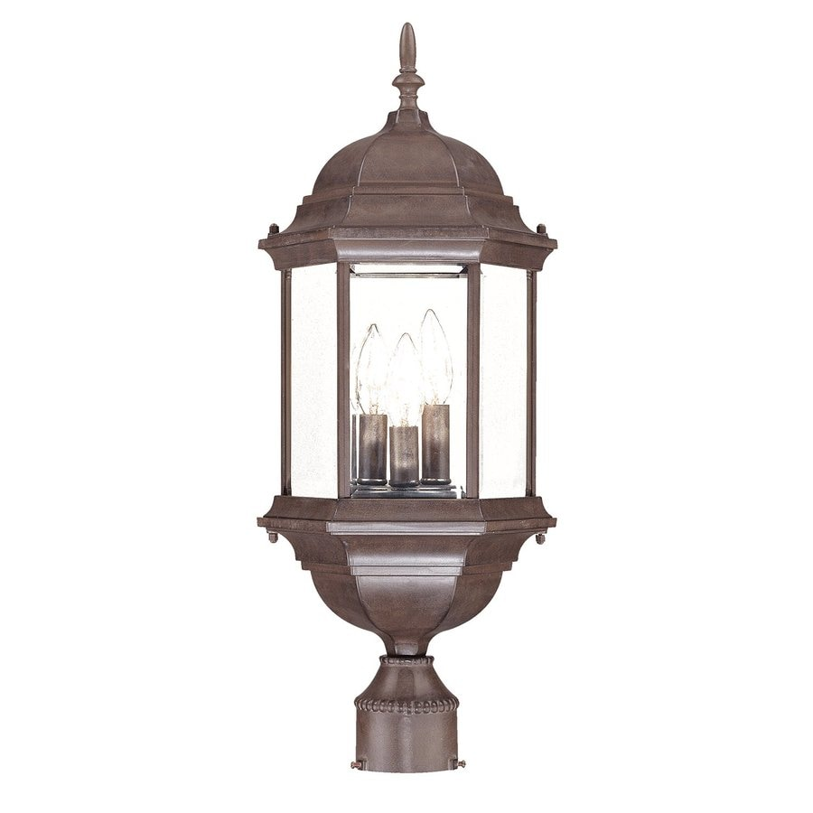 Acclaim Lighting Madison 25-in H Burled Walnut Post Light