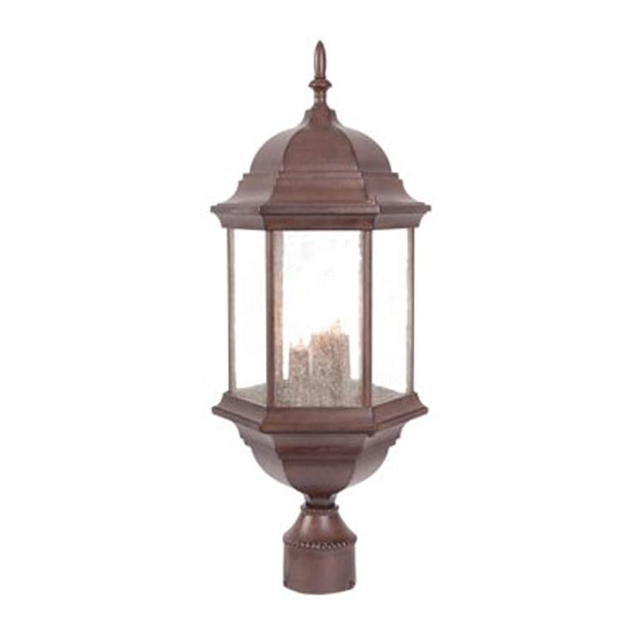 Acclaim Lighting Madison 21.5-in H Burled Walnut Post Light