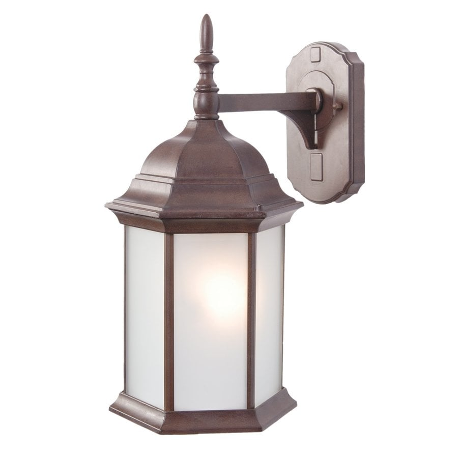 Acclaim Lighting Craftsman 16.5-in H Burled Walnut Outdoor Wall Light