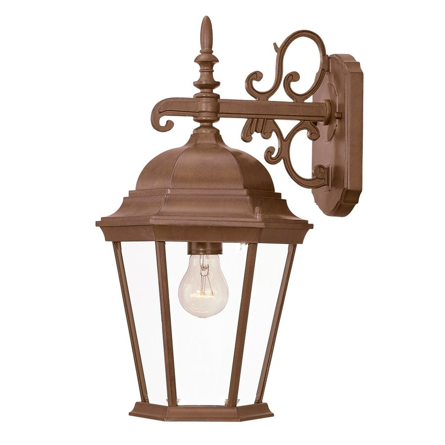 Acclaim Lighting Richmond 17.5-in H Burled Walnut Outdoor Wall Light