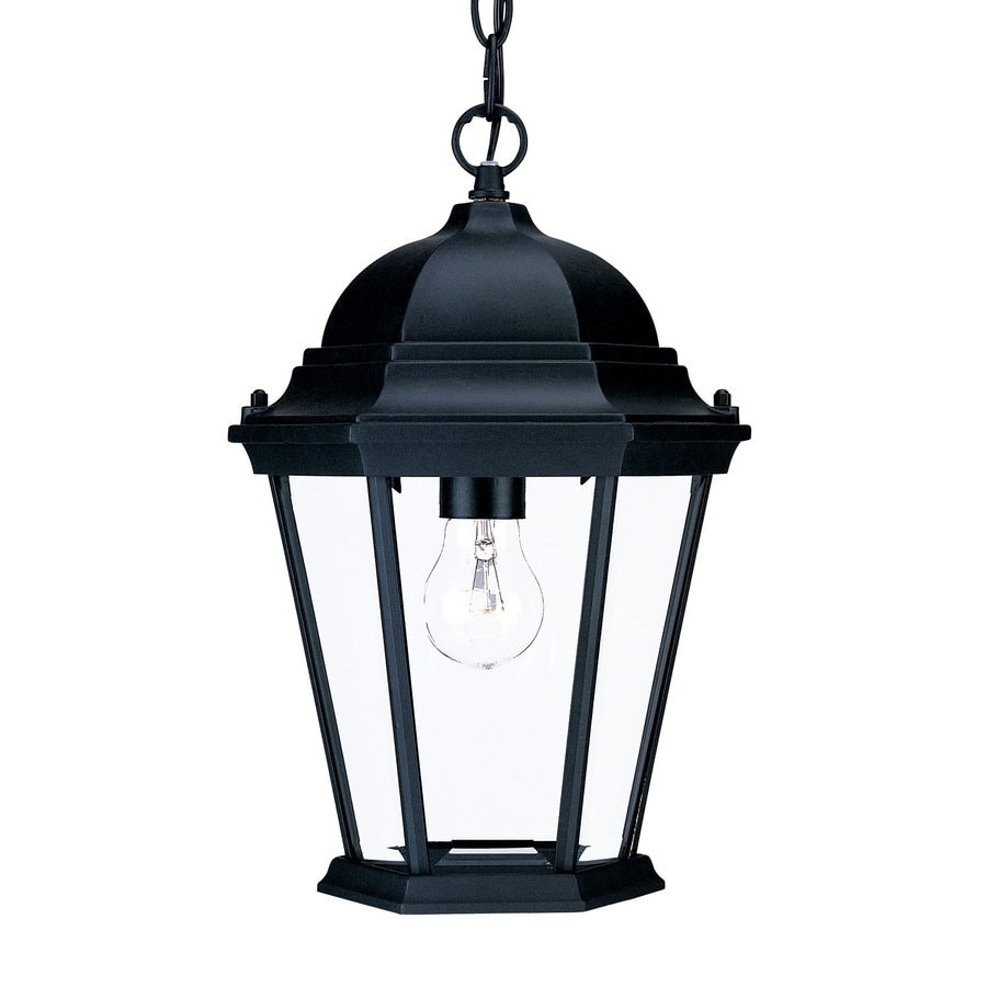Acclaim Lighting Richmond 14-in Matte Black Outdoor Pendant Light