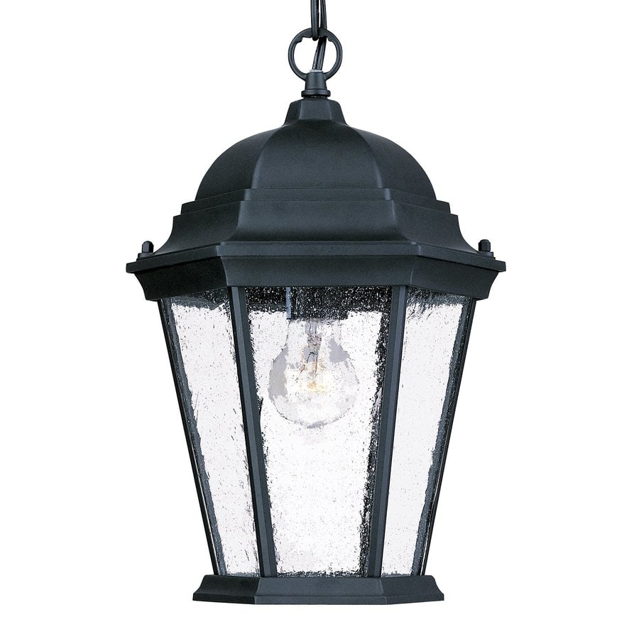 Acclaim Lighting Richmond 14-in Matte Black Outdoor Pendant Light