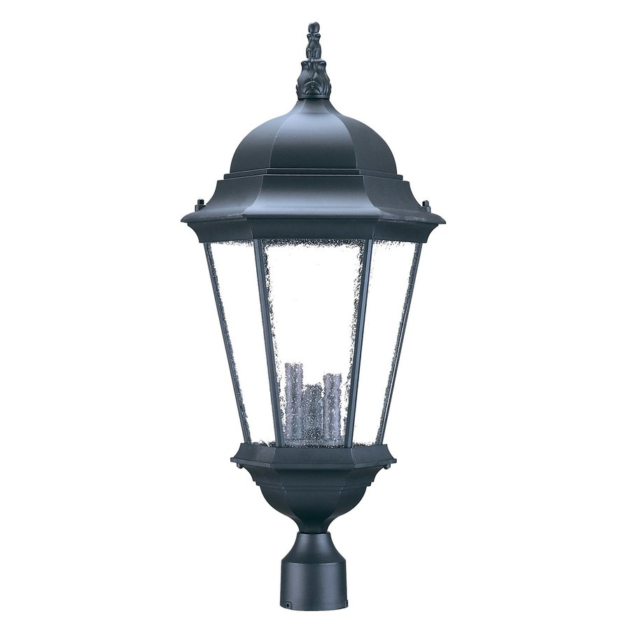Shop acclaim lighting richmond 27 in h matte black post for Lamp post light lowes